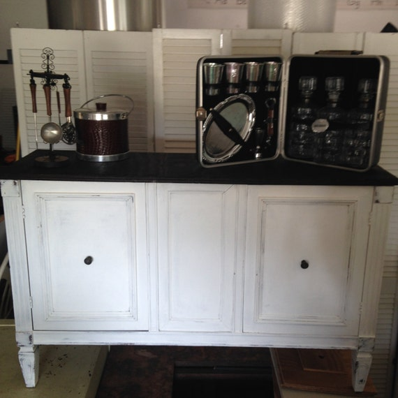 items similar to sold rustic buffet distressed bar. Black Bedroom Furniture Sets. Home Design Ideas