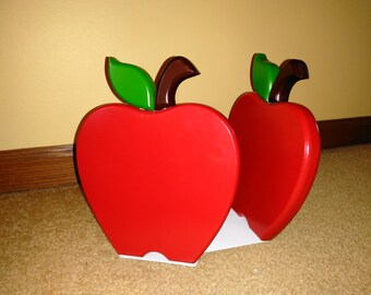 Red Apple Bookends Great Teacher Gift