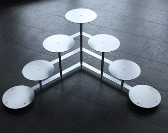 Cake stand Tortenetagere round Etagere aluminium wedding party 4 floors 7 plates 24 cm diameter each