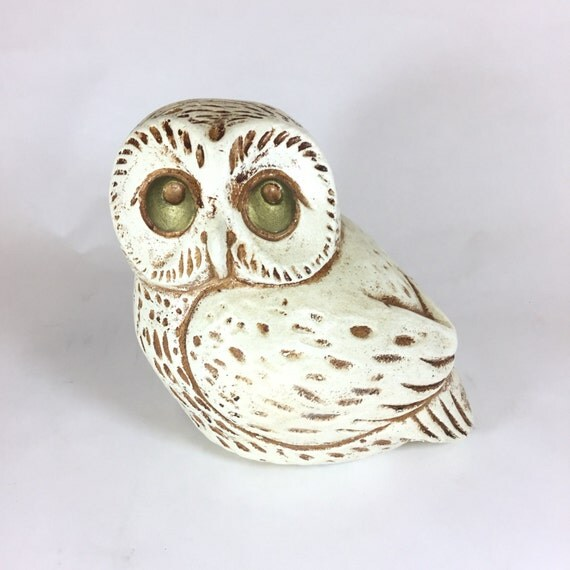 Jaru Owl White Vintage Retro Home Decor By Retroresalesandiego