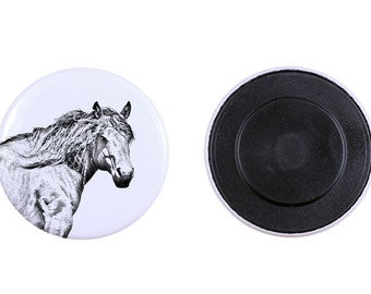 Magnet with a horse - Basque Mountain Horse