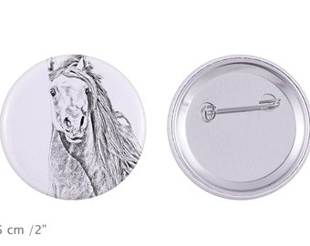 Buttons with a horse -Pintabian