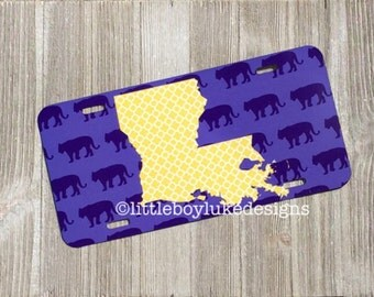 License Plate - Front License Plate - Decorative License Plate - State License Plate - Louisiana License Plate - Car License Plate - Car Tag
