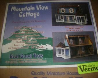Mountain View Cottage Dollhouse Kit, 1:12 Scale
