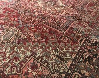 "8'4""x11'8"" Vintage Persian Heriz Rug"