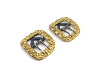 Georgian miniature gilt metal buckles
