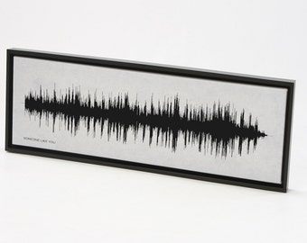 Someone Like You : Sound Wave Art Print - Framed Song Print