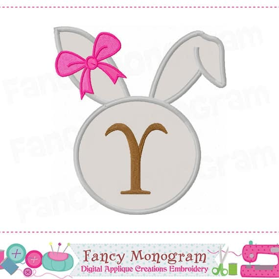 Easter Monogram Y Applique,Easter Bunny Letter Y Applique,Y,Font Y