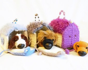 Dog Kennel Toy - Childrens Toys - Toy Dog House - Gift for Kids - Soft Toys - Pretend Play - Boys - Girls - Kids Dogs - Crochet Toys - Gifts