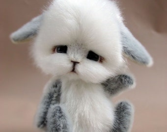 Toy Rabbit animals handmade artist bear OOAK