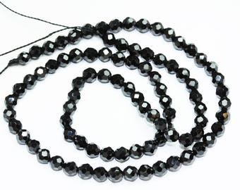 """3mm One full strand Beautiful Natural Spinal Faceted Round Gemstone,16""""-GEM0642"""