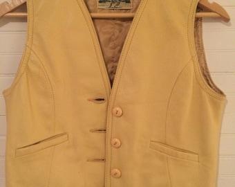 Custom Coats Co Deerskin Leather Vest Adult XS-S Vintage Leather Vest Vintage Custom Coats Deerskin Vest Wisconsin Mens Vest Womens Vest