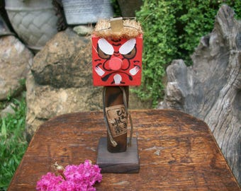 Japanese Old Cryptomeria Tengu Kokeshi Doll