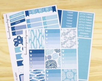 Life Is Wispy Vertical Weekly Mini Kit, Planner Stickers for use with ERIN CONDREN LIFEPLANNER™