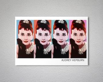 Audrey Hepburn Vintage Celebrity  Poster -  Poster Print, Sticker or Canvas Print