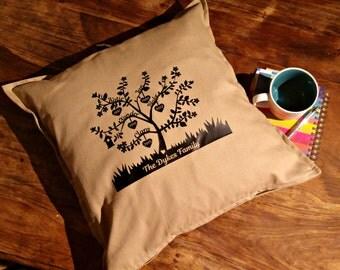 Family Tree Cushion Personalised Cushion Family Tree Pillow Throw Pillow Wedding Gift Personalised Family Tree New Family Gift Heirloom