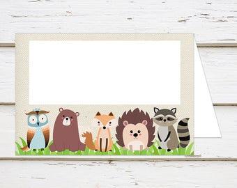Printable Woodland Baby Shower Food Tent Cards, Food Tent Labels, DIY, Instant Download, Printable Food Labels, Baby Shower, MB200