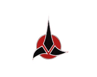 Klingon Empire Insignia Embroidered Iron On Patch Iron on Applique