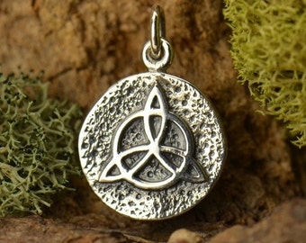 Sterling Silver Triquetra Charm. Protection Amulet Charm.