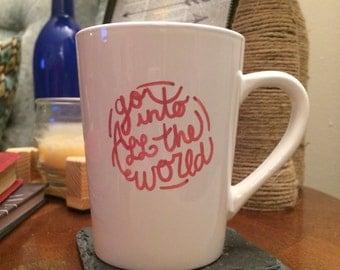 Handpainted Mug (Mark 16:15)