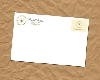 Custom Return Address Labels - Bee - Stickers