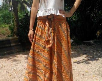 Gipsy Skirt  Sun Summer Buckle Prairie Gypsy Stripe Orange