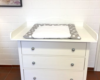 Cloud 7 - Changing table top, changer for IKEA Hemnes dresser. New. White