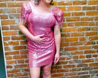 VINTAGE 1980's SEQUIN DRESS