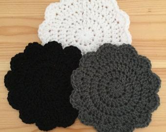 Crochet Scallop Coasters
