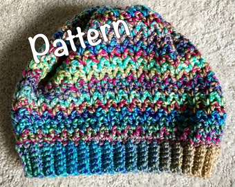 Zig-Zag Fitted Beanie Pattern