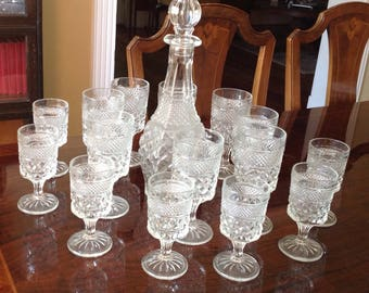 Wexford Vintage Decanters with 15 Wine Goblets