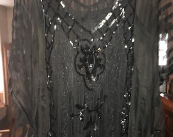 Vintage Flapper Style Dress Plus Size