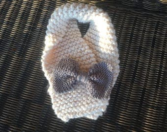 Toddler Knit Scarf with Bow