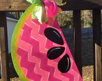 Summer Whimsical Watermelon Door Hanger