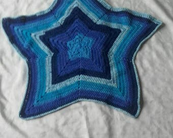 Star blanket, crochet baby blanket, boy pram blanket, stroller blanket, carseat blanket, newborn boy blanket , ready to ship