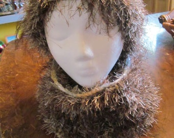 Fun Fur Cowl - Mink color  ( beanie sold separate )