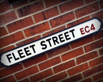 Fleet Street Faux Cast Iron Old Fashioned Street Sign