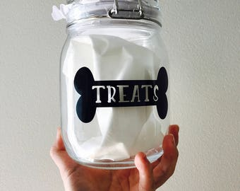 Dog Treat Jar, Dog Treat Container, Personalized Dog Cookie Jar, Treat Canister, Airtight Seal Container, Dog Treats Container, Pet Jars