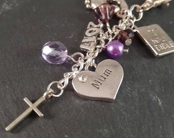 Christening gift - Baptism bag charm - baptism gift - new mum gift - gran gift - grandma gift - baby gift - religious gift - dedication gift
