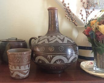Antique Handmade Mexican Water Jug