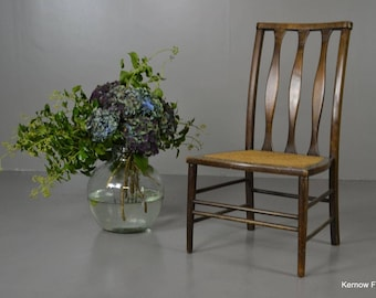 Edwardian Beech & Cane Chair