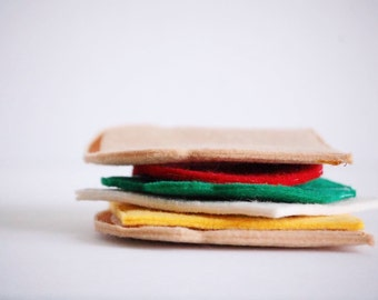 felt play food - felt food - felt pretend food - felt food set - felt sandwich - toy food - kitchen play food - kids pretend toy food