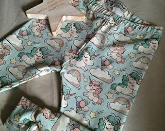 Unicorn, Rainbow & Stars Baby Girl Leggings