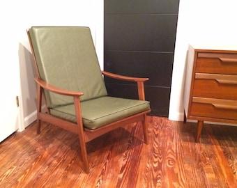 Mid Century Modern Danish Lounge Chair - Yugoslavian - Highback