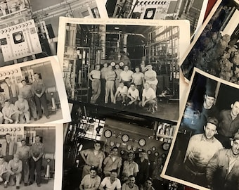 Vintage Industrial Photos / Black and White Factory Photos / Bundle of Vintage Photos