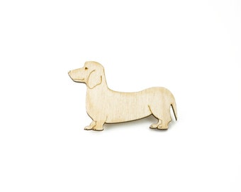 Dachshund brooch, daxie brooch, sausage dog brooch, wooden jewellery
