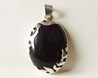 Onyx pendant on silver 925 in unique creation, Onyx of Gujarat