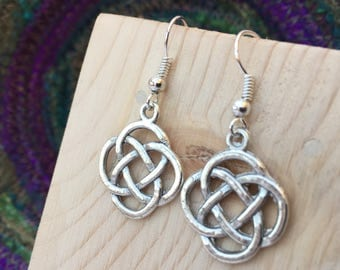 Silver Celtic Earrings, Celtic Earrings, Irish Jewellery, Celtic Knot, Celtic Knot Earrings, Celtic Jewellery, Enamel Earrings, Drop