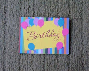 Birthday Balloons Greeting Cards