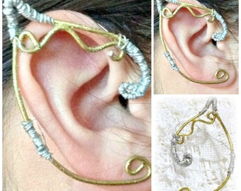 Elven Ear Cuffs Fits Close To The Ear Great For  LARP / Cosplay